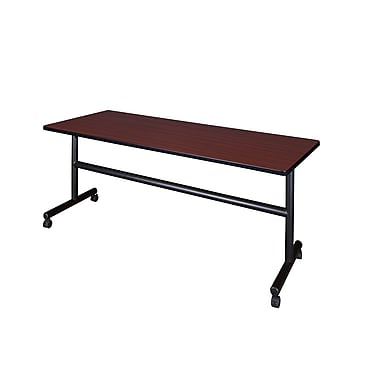 Regency 72'' Rectangular Flip Top Training Table, Mahogany (MKFT7224MH)