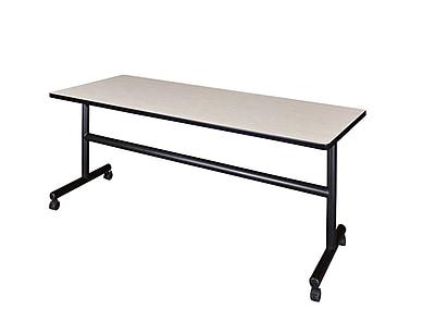 Regency 72'' Rectangular Mobile Training Table, Maple (MKFT7224PL)