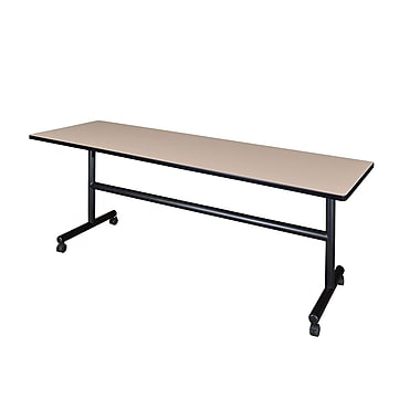 Regency Kobe 84'' Rectangular Flip Top Training Table, Beige (MKFT8424BE)