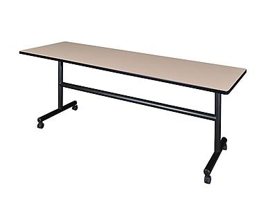 Regency Kobe 84'' Rectangular Flip Top Training Table, Beige (MKFT8424BE)