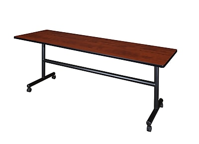 Regency 84-inch Metal & Wood Kobe Flip Top Training Table, Cherry