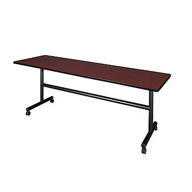 Regency – Table de formation Kobe en métal et en bois, dessus rabattable, 84 po, acajou (MKFT8424MH)