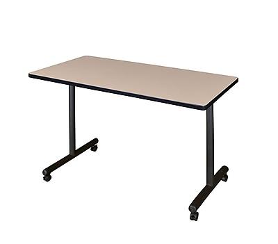 Regency Kobe 48'' Rectangular Mobile Training Table, Beige (MKTRCC4824BE)