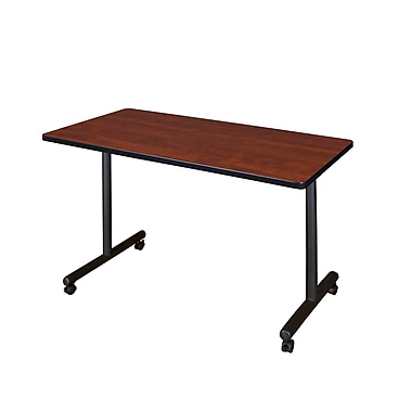 Regency Kobe 48'' Rectangular Mobile Training Table, Cherry (MKTRCC4824CH)
