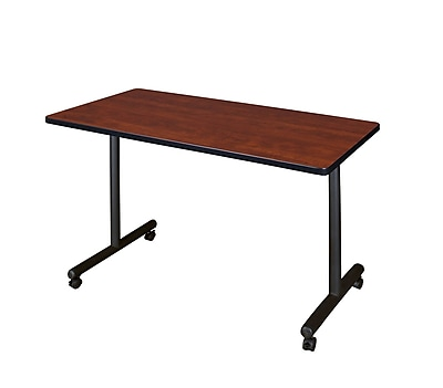 Regency Kobe 48'' Rectangular Mobile Training Table, Cherry (MKTRCC4824CH)