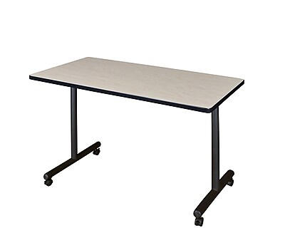 Regency 48-inch Wood & Metal Rectangular Training Table, Maple