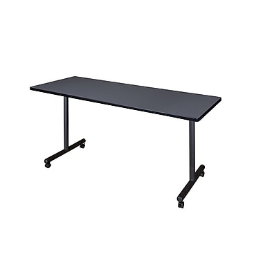 Regency – Table de formation mobile Kobe de 66 x 24 po, gris (MKTRCC6624GY)