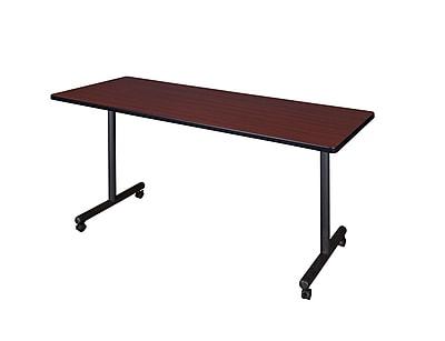 Regency Kobe 66'' Rectangular Mobile Training Table, Mahogany (MKTRCC6624MH)