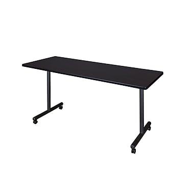 Regency – Table de formation mobile et rectangulaire Kobe en stratifié, métal et bois, 66 po, noyer moka (MKTRCC6624MW)