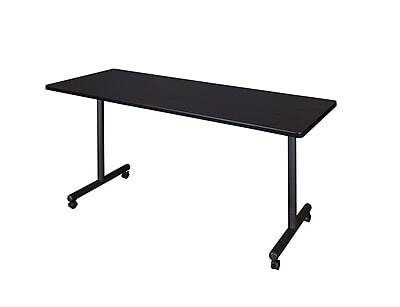 Regency 66-inch Laminate, Metal & Wood Kobe Mobile Rectangular Training Table, Mocha Walnut