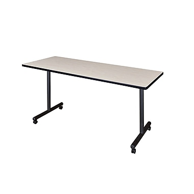 Regency Kobe 66'' Rectangular Mobile Training Table, Maple (MKTRCC6624PL)