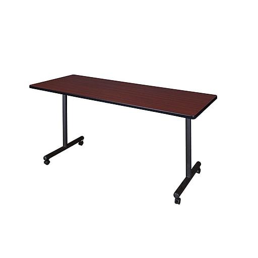 Regency Kobe 72'' Rectangular Mobile Training Table, Mahogany (MKTRCC7224MH)
