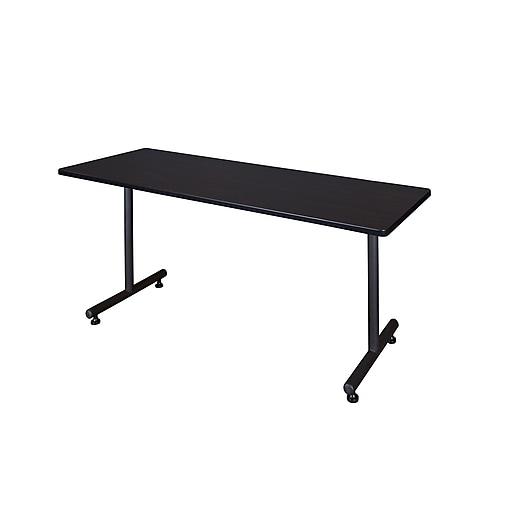 Regency 66-inch Melamine & Polyvinyl Chloride Training Table, Mocha Walnut