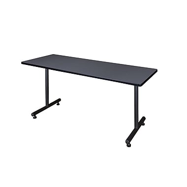 Regency 72-inch Metal & Wood Kobe Rectangular Training Table, Gray