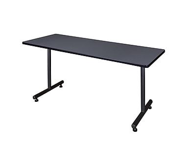 Regency 72-inch Metal & Wood Kobe Rectangular Training Table, Gray