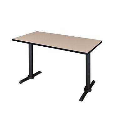 Regency – Table de formation rectangulaire de 48 po, beige (MTRCT4824BE)