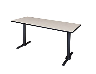 Regency 60-inch Metal & Wood Cain Computer Table, Maple