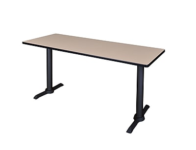 Regency Cain 66'' Rectangular Computer Table, Beige (MTRCT6624BE)