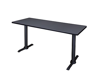 Regency Cain 66'' Rectangular Computer Table, Gray (MTRCT6624GY)