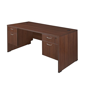 Regency Sandia Desk with Peds, Java