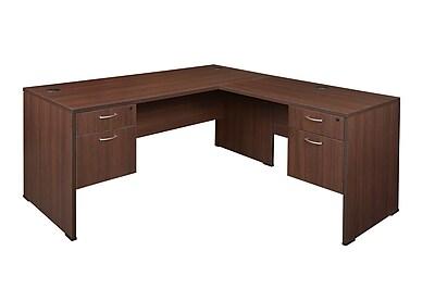 Regency Sandia L-Desk with Peds, Java