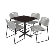 Regency 36-inch Square Table with 4 Chairs, Blue