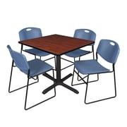 Regency 36-inch Square Laminate Table with 4 Chairs, TB3636MH44BE