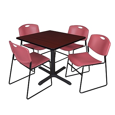 Regency Laminate Square Table with 4 Chairs, TB4242MW44BE