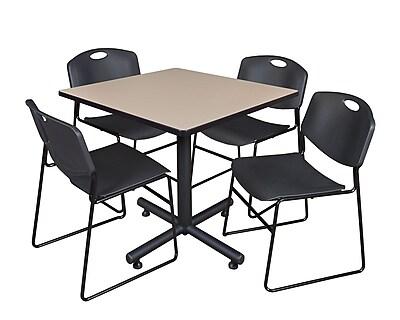 Regency 31-inch Square Table, Black