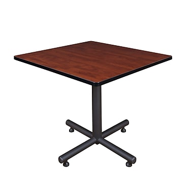 Regency 36-inch Square Kobe X Base Lunchroom Table, Cherry