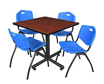 Regency 36-inch Laminate Cherry Square Table, Blue