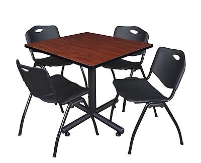 Regency 36-inch Laminate Cherry Square Table, Black