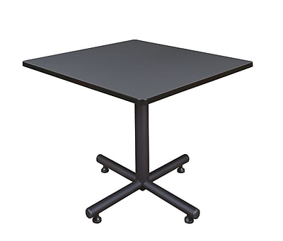 Regency 36-inch X Base Lunchroom Table, Gray