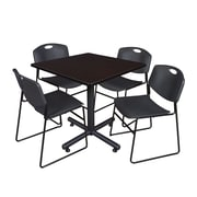 Regency Square Laminate Table with Zeng Stacker Chairs, TKB3636PL44BE