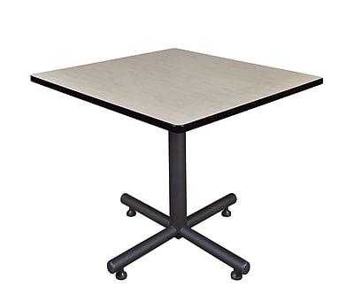 Regency 36-inch Square Kobe X Base Lunchroom Table, Maple