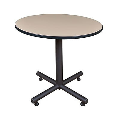 Regency 36-inch Round Kobe X Base Lunchroom Table, Beige