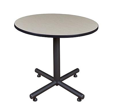 Regency 36-inch Round Kobe X Base Lunchroom Table, Maple