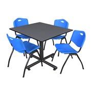 Regency 48-inch Kobe Base Square Table, Blue