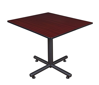 Regency 48-inch Square Kobe X Base Lunchroom Table, Mahogany