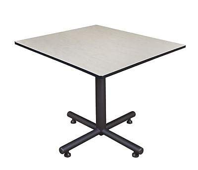 Regency 48-inch Square Kobe X Base Lunchroom Table, Maple