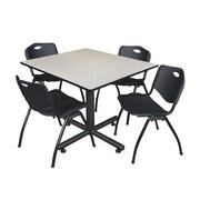 Regency 48-inch Maple Square Table, Black