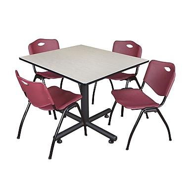 Regency 48-inch Maple Square Table, Burgundy