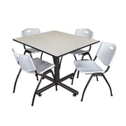 Regency 48-inch Maple Square Table, Gray