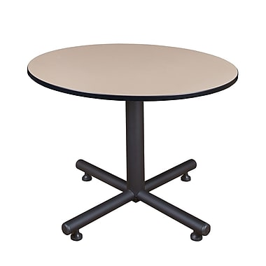 Regency 48-inch Round Kobe X Base Breakroom Table, Beige