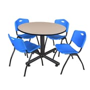 Regency 48-inch Round Table, Blue