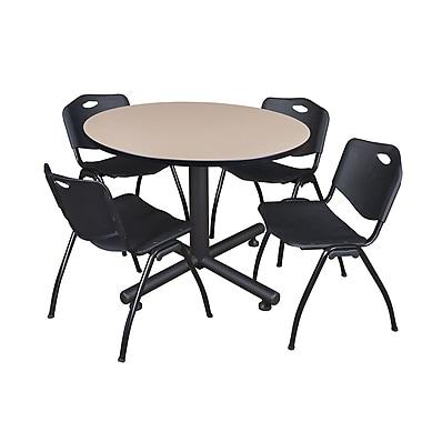Regency 48-inch Round Table, Black