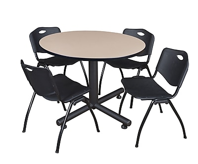 Regency 48-inch Round Table, Black