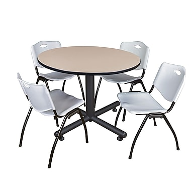 Regency 48-inch Round Table, Gray