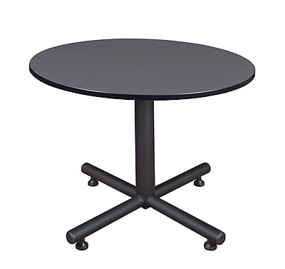 Regency 48-inch Round Kobe X Base Breakroom Table, Gray