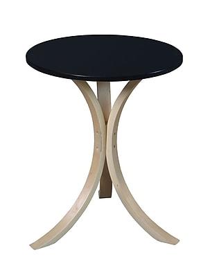 Niche Wood/Veneer Side Table, Black, Each (2018NTBK)
